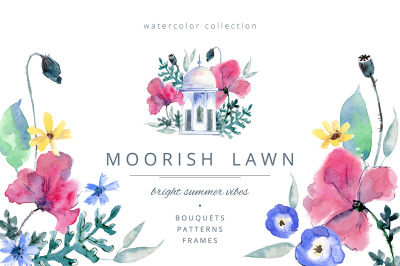 Moorish Lawn graphic set.
