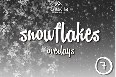 Falling Snow Overlay Snowflake Clipart. Photoshop Christmas New Year