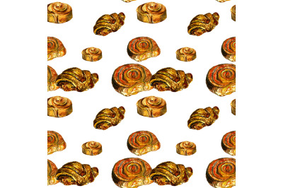 Seamless pattern with pastry.