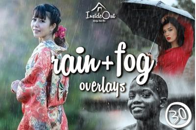 Realistic Rain Fog Overlay Photoshop Autumn weather Romantic backdrops