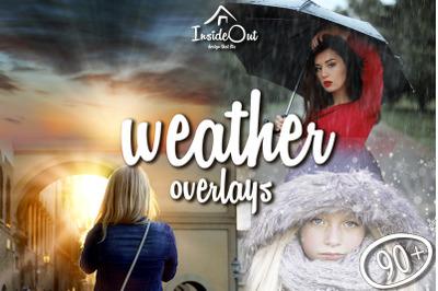 Weather Overlay Sun Snow Rain -BIG PACK! Photoshop Backdrops