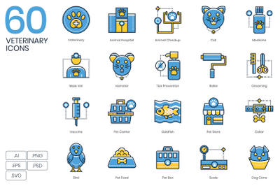 60 Veterinary Icons