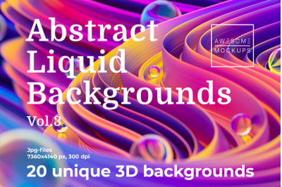 Abstract Liquid 3D Backgrounds