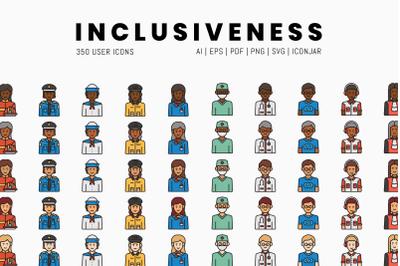 Inclusiveness - 350 User Icons