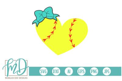 Softball Heart SVG
