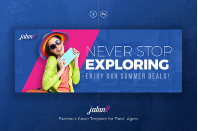 Travel Agent Facebook Cover PSD Template