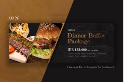 Restaurant Facebook Cover PSD Template