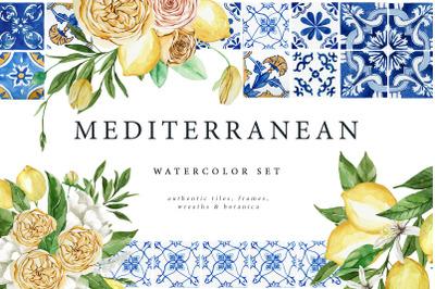 Mediterranean Watercolor Set