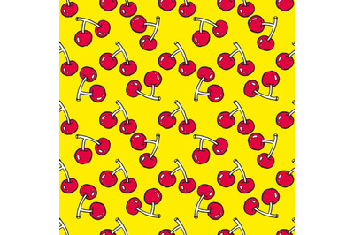 Cute cherry seamless pattern