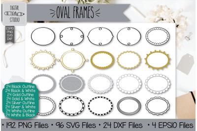 192 Oval frames Hand Drawn Illustrations Bundle