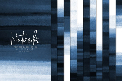Navy Blue Watercolor Textures 02