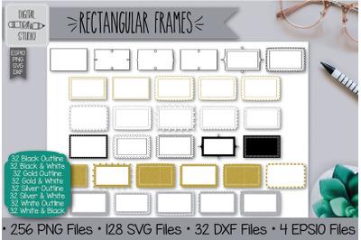 256 Rectangular frames Hand Drawn Illustrations Bundle
