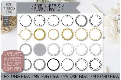 192 Round frames Hand Drawn Illustrations Bundle