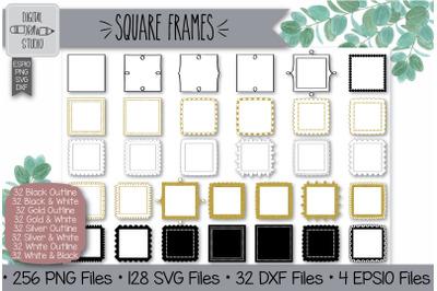 256 Square frames Hand Drawn Illustrations Bundle