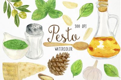 Watercolor Pesto Clipart, Pesto Clip Art