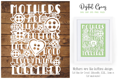 Mothers are like buttons design