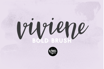VIVIENE BOLD BRUSH script .OTF font