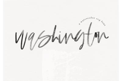 Washington - A Handwritten Script Font / SVG & Solid