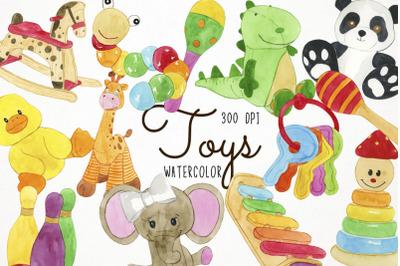 Watercolor Toys Clipart, Toys Clip Art