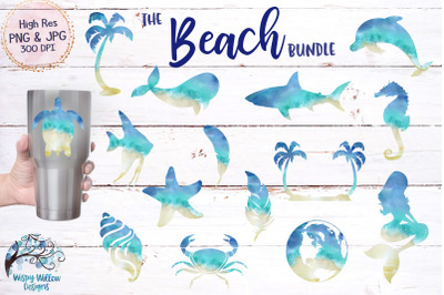 Beach Clipart Sublimation Bundle