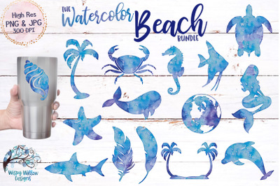 The Watercolor Beach Bundle | Clipart | Sublimation