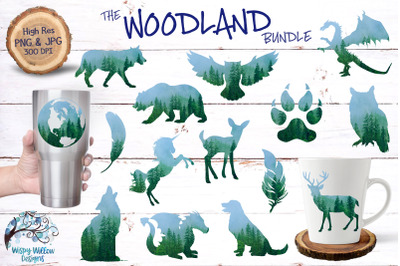 The Woodland Bundle | Sublimation | Clipart