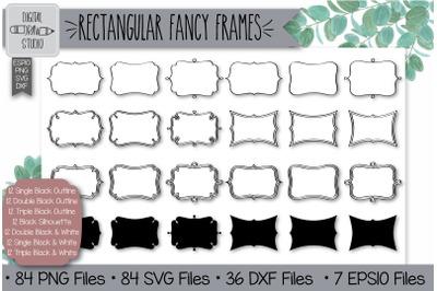 84 Rectangular fancy frames Hand Drawn Illustrations Bundle