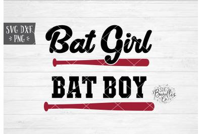 Bat Girl / Bat Boy Baseball SVG DXF PNG
