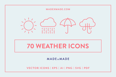 Line Icons  - Weather