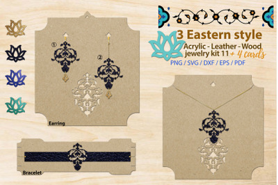 Eastern style acrylic leather wood jewelry kit 11