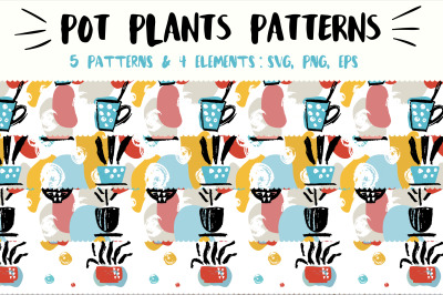 Pot plant patterns set