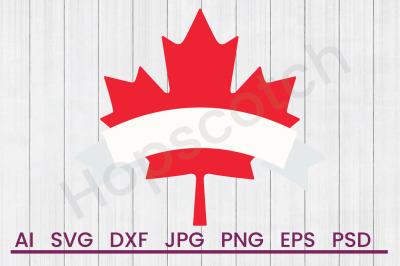 Canadian Maple - SVG File, DXF File