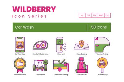 50 Car Wash Icons