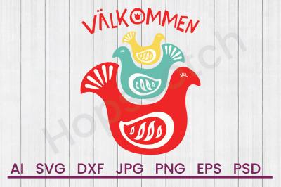 Valkommen Birds - SVG File, DXF File