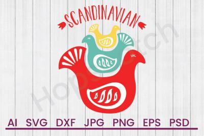 Scandinavian Birds - SVG File, DXF File