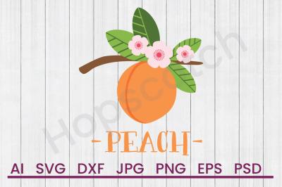 Peach - SVG File, DXF File