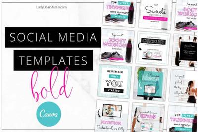 Canva Bold Social Media Templates