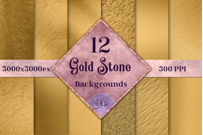 Gold Stone Backgrounds - 12 Image Textures Set