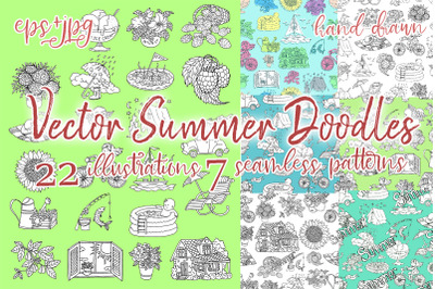 Summer doodles collection