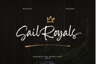 Sail Royals // Handwritten Brush Script