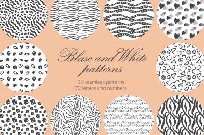 Black and White Patterns  Set