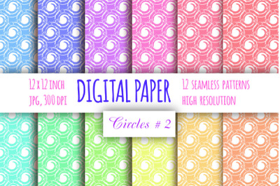 Curls digital paper. Whirls seamless pattern