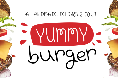 Yummy Burger- A handmade delicious font