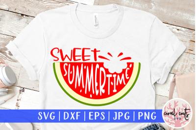 Sweet summertime - Summer SVG EPS DXF PNG Cut File