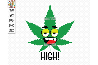 High! Weed Smiley