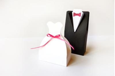Wedding Dress and Tuxedo Box Set | SVG | PDF | DXF