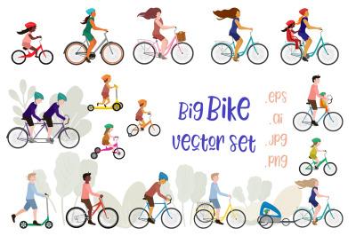 Bike / bicycle vector set