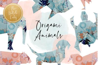 Origami Animals Clipart Set
