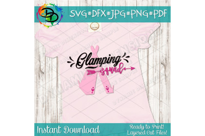 Glamping Party svg, glamping svg, girl party svgs, party squad svg, g