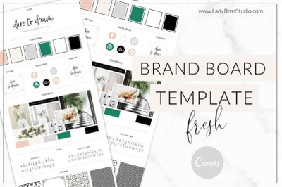 Canva Fresh Brand Board Template